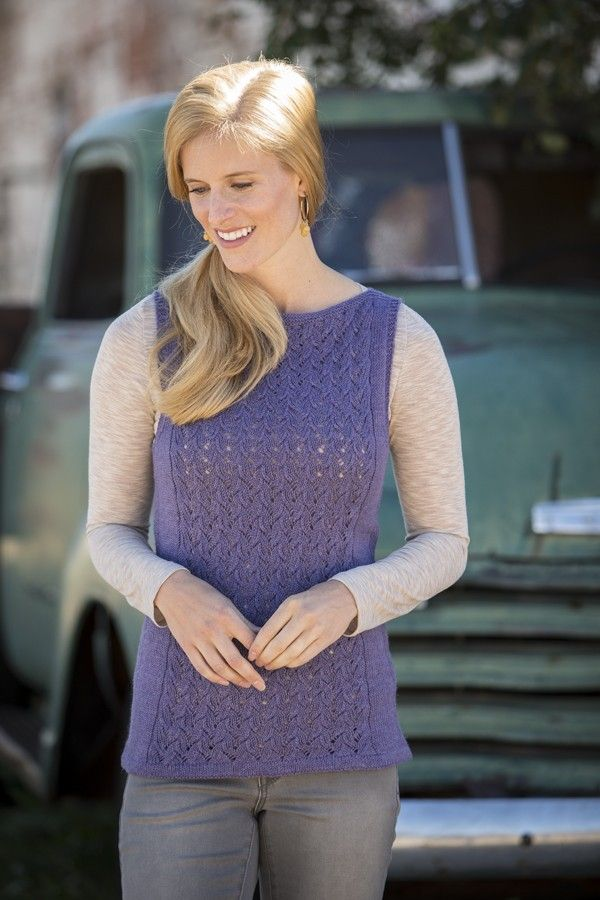 Terre Hill Tunic - Everyday Lace: Simple, Sophisticated Knitted Garments - Heather Zoppetti | InterweaveStore.com #knitting #laceknitting #lacepattern #laceproject