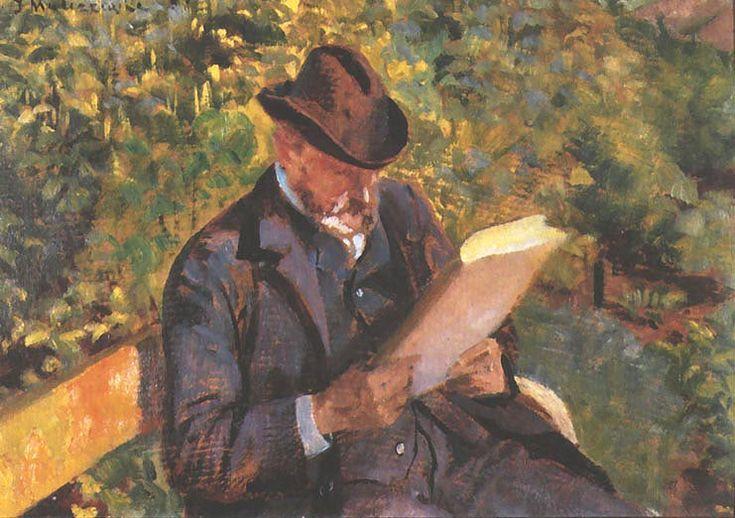 Jacek Malczewski - Portrait of a Man Reading