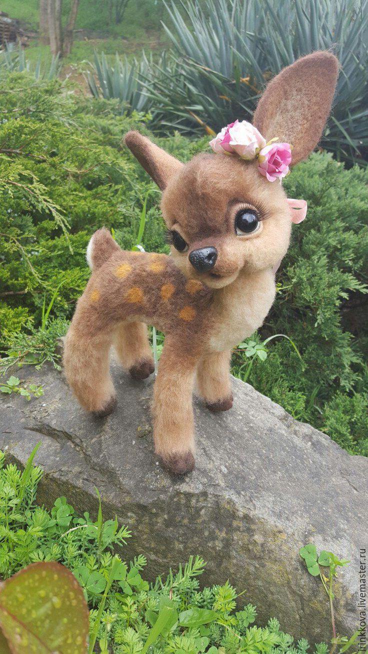 Олени - коричневый, олень, олени, олень игрушка, олененок, игрушка олень, валяная игрушка Needle felting, felt toys