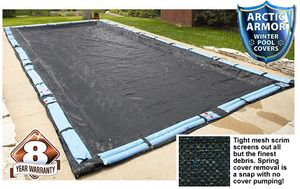 Arctic Armor Rugged Mesh Winter Cover for Inground 18' x 36' Rectangle Pool  ENVIROMENTALLY FRIENDLY COVER SAVES TIME AND MONEY IN THE SPRING! Our rugged mesh cover makes spring clean-up a snap. The                                                                                                                                                      More