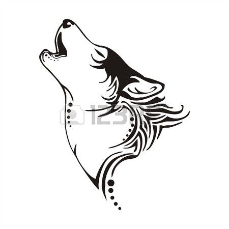 leader wolf bay tribal tattoo vector