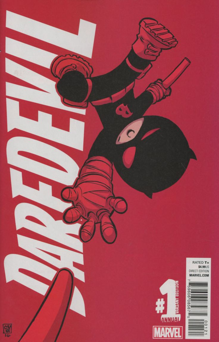 Daredevil Vol 5 Annual #1 Cover B Variant Skottie Young Baby Cover