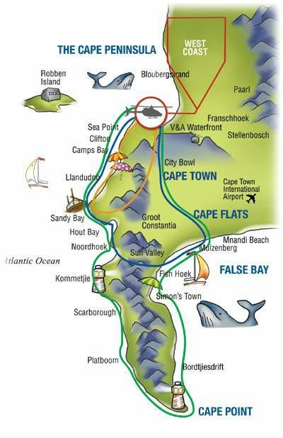 Cape Town Helicopter Map