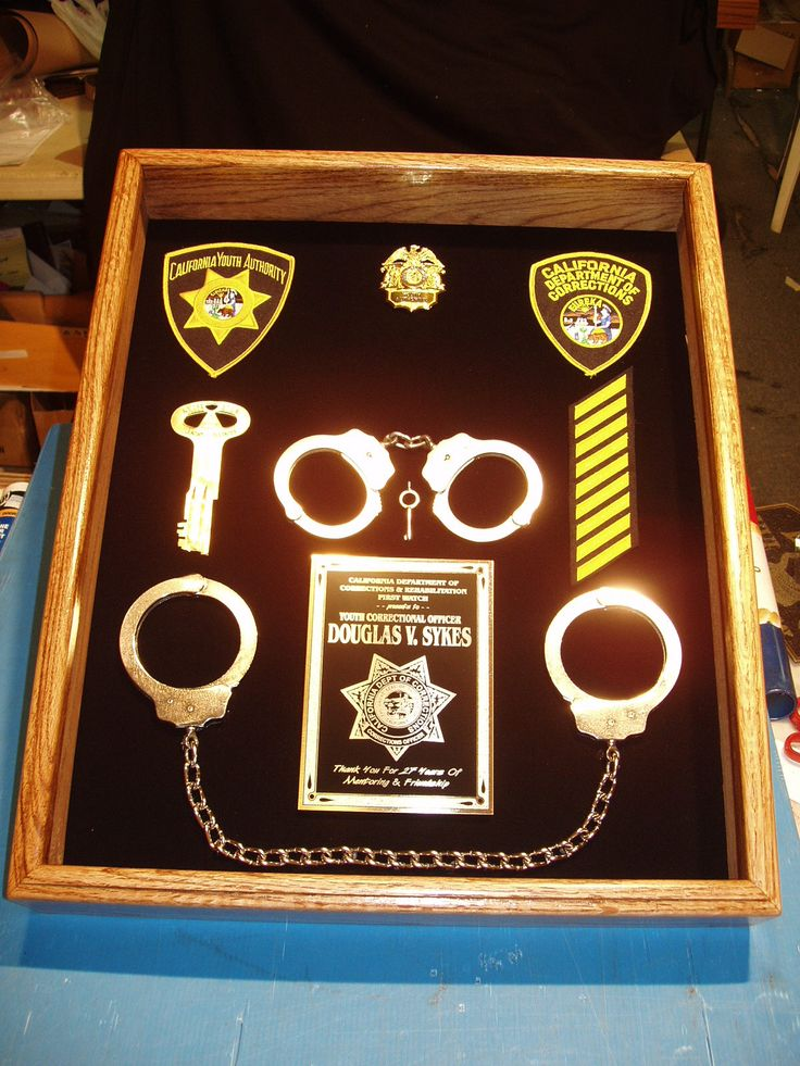 Retirement Shadow Boxes correction officer 13 best