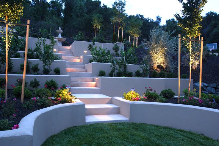 steep backyard landscaping garden ideas pinterest