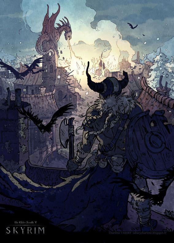 Skyrim by Morgan-chane on deviantART