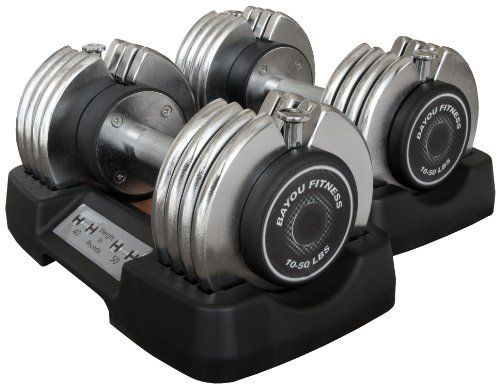 Bayou Fitness Pair of Adjustable Dumbbells by Bayou Fitness, http://www.amazon.com/dp/B002KN77LA/ref=cm_sw_r_pi_dp_pRhQrb00DW27Y