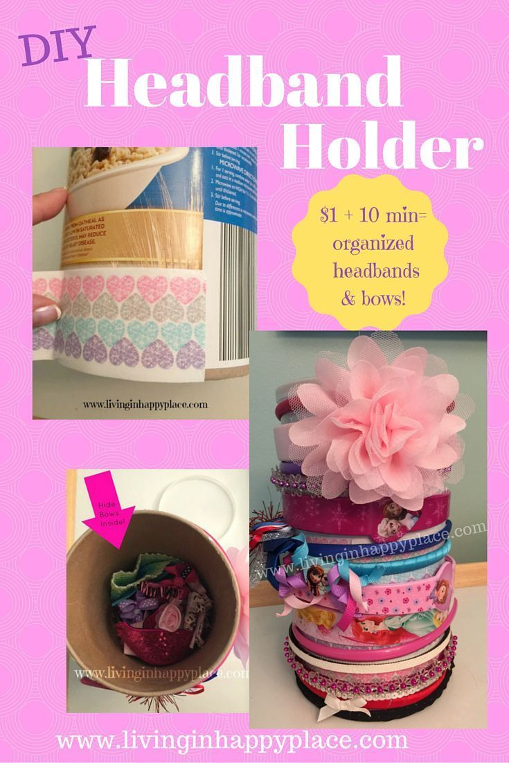 Looking for a way to organize headbands? This easy, DIY headband holder and hair tie organizer idea is perfect for babies or little girls. Tutorial included! Easy to make.