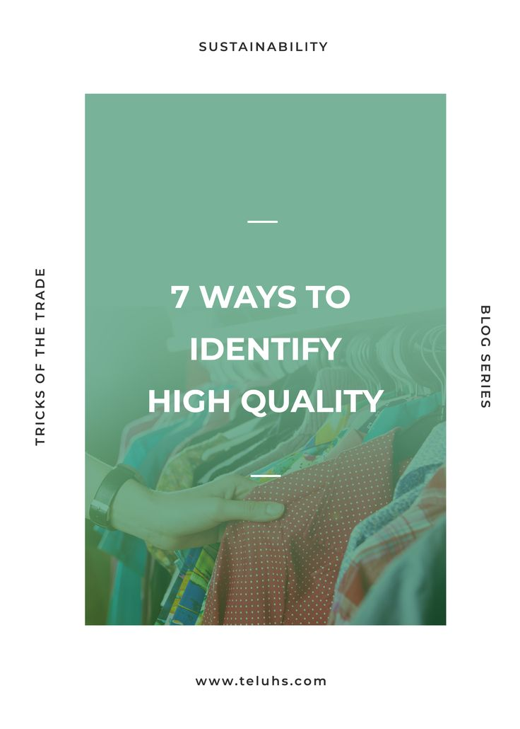 Spot high quality materials and clothing. Quality over quantity. Long lasting clothes. Mending. Repair. Proper care.  #highquality #madetolast #clothes #garments #howto #learn #clothesrepair