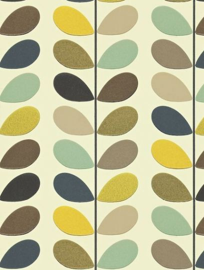 Multi Stem, a feature wallpaper from Orla Kiely, featured in the Orla Kiely Wallpapers collection.