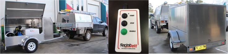 Enclosed Sprintjett Water Jetter Trailer built for a customer in Coffs Harbour NSW