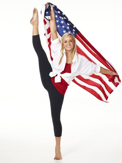 Gymnast Nastia Liukin. She might not be heading to London but she's a rock star in my book.