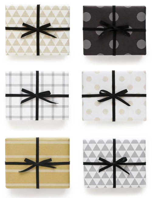 モダン柄の包装紙|ペイ·デザイン