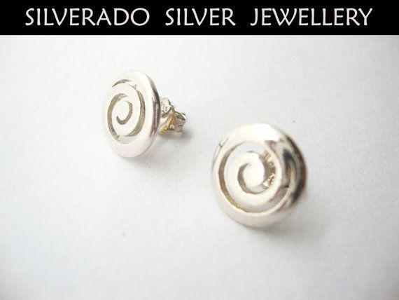 Greek Spiral Eternity Key Sterling Silver by SilveradoJewellery, €18.00
