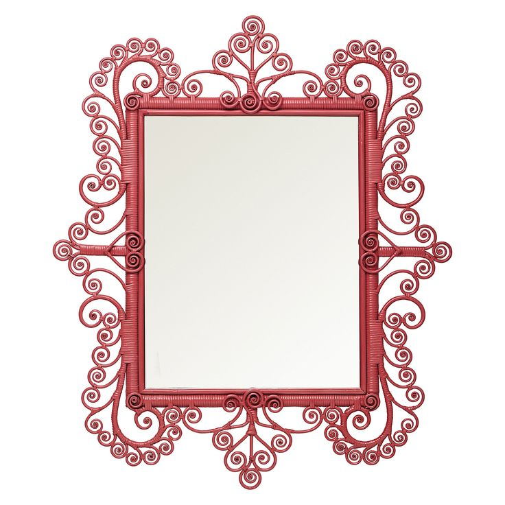Peacock Scroll Mirror – Tropical Pink | Serena & Lily - girls room