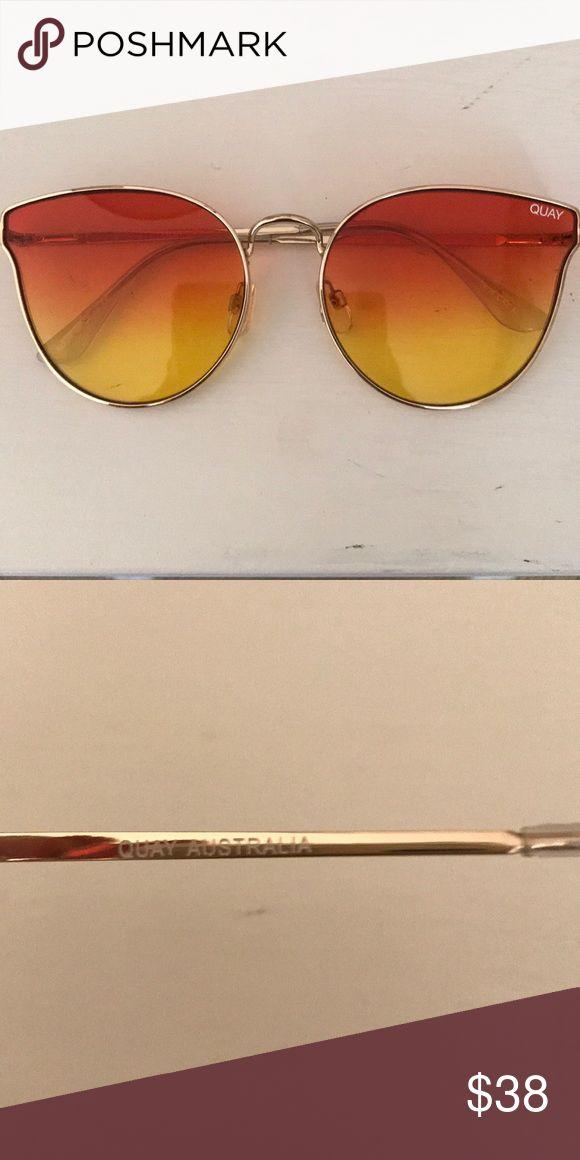 Quay Australia Sunglasses Orange to yellow ombré Quay Australia sunglasses with gold hardware. Butterfly style— super trendy! 🦋🕶 Perfect condition, worn once Quay Australia Accessories Sunglasses