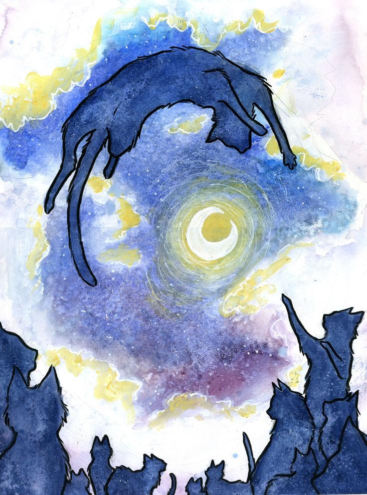 Illustration Moon Cats