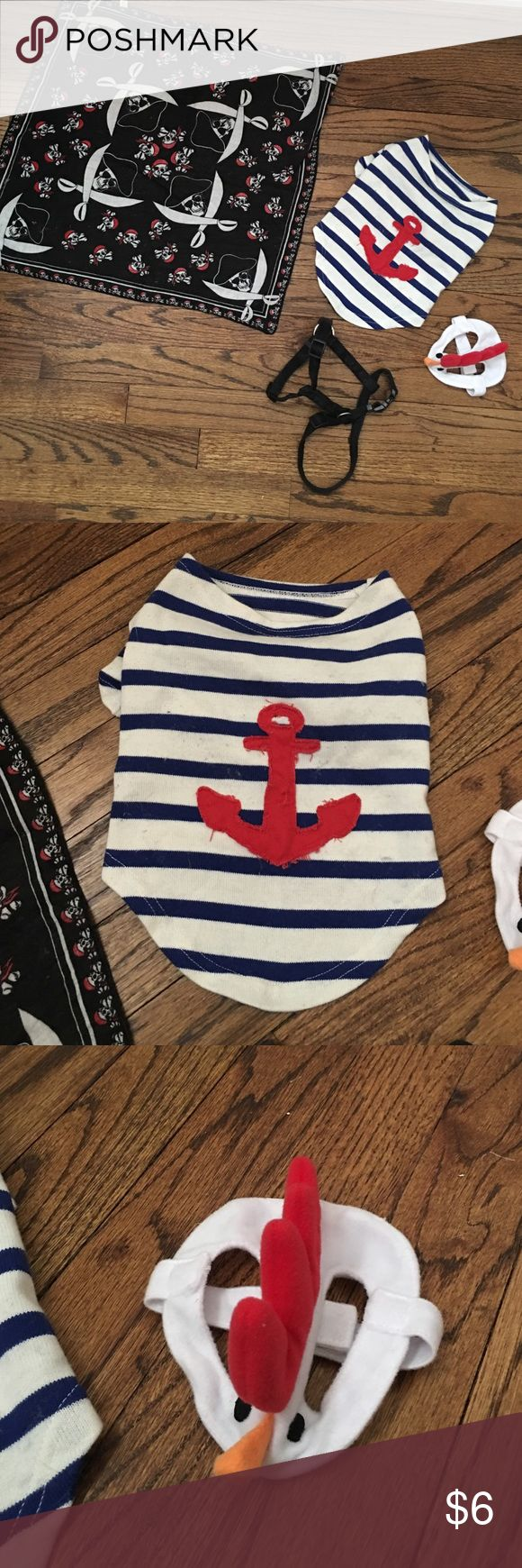 Small Dog Accessories Costumes Bandana Collar Small Dog Accessories Costumes Bandana Collar. Size small nautical shirt (for small terrier, etc), size medium chicken headband, regular size pirate bandana, medium size collar (for full grown terrier, etc) Old Navy Other