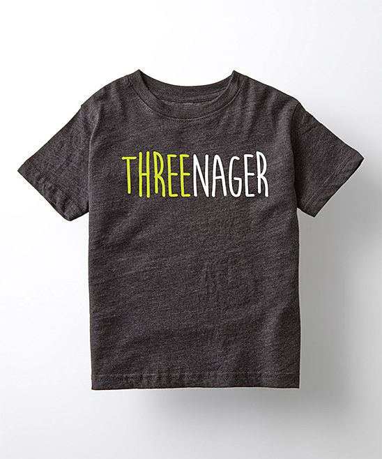Heather Charcoal 'Threenager' Tee - Toddler & Kids