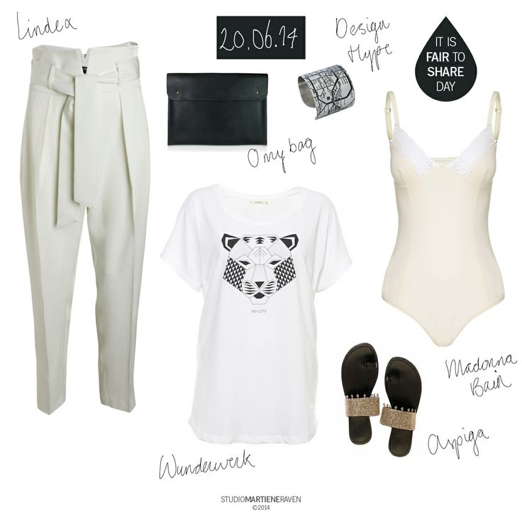 Black+white | out-of-the-office 20.06.14  shirt #Wunderwerk #organic #cotton #CharlieandMary trousers #Lindex #100% #lyocell bag #OhMyBag #ecoleather flipflops #Aspiga #handmade #kenia bracelet #cuff #berlin #DesignHype #Fairgoods body #MadonnaBain #organic #cotton  #outfit #fairtoshare #fair #fashion #whattoweartoday