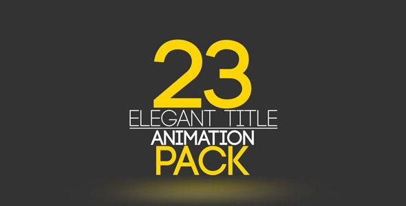 23 Unique Elegant  Title Animation project Pack. Ready to use. Each title have IN / OUT animation. Title animation time 6 – 8 sec. 23 separate projects. Very simple to edit text and color. Just dr...