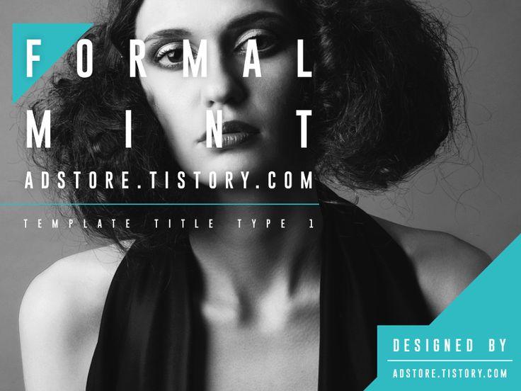 포멀한, 심플한 패션 PPT 템플릿, 초록&민트색 PT 템플릿 디자인 : Formal Mint 배포 :: AD Store : 애드스토어