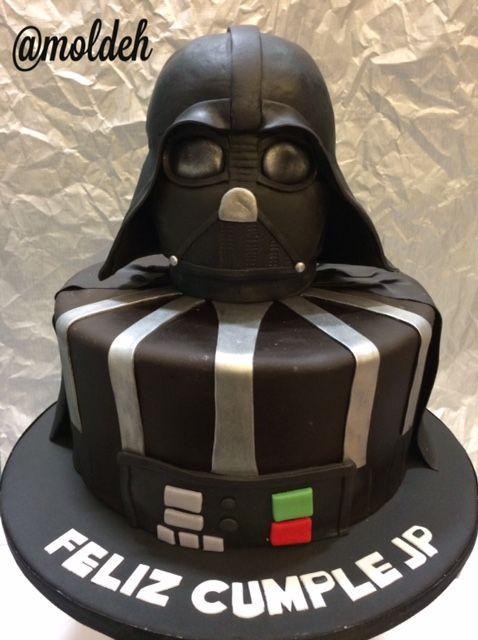 Pastel de Cumpleaños de Darth Vader, Star Wars // Darth Vader Birthday Cake