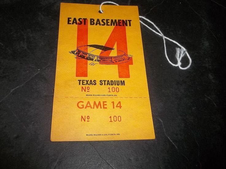 Vintage Dallas Cowboys Texas Stadium East Basement Credential Pass Game 14