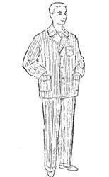 Мужская пижама в полосочку