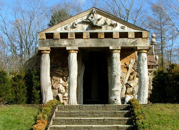 Classical facade. Made of Oak Ginga Garden Hokkaido Japan