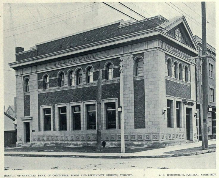 Canadian Bank of Commerce, Bloor and Lippincott, Toronto, circa 1918