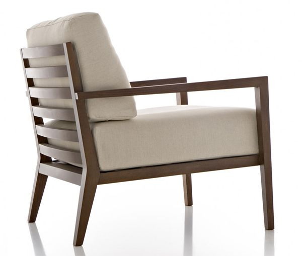 a simple lounge chair elevated to a higher level due to a keen eye for