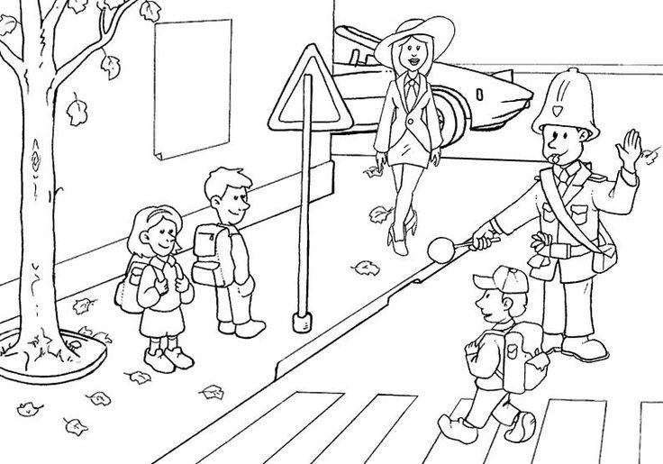 Dibujo De Una Calle Para Colorear Picture Writing Prompts Kindergarten Activities Coloring Pages