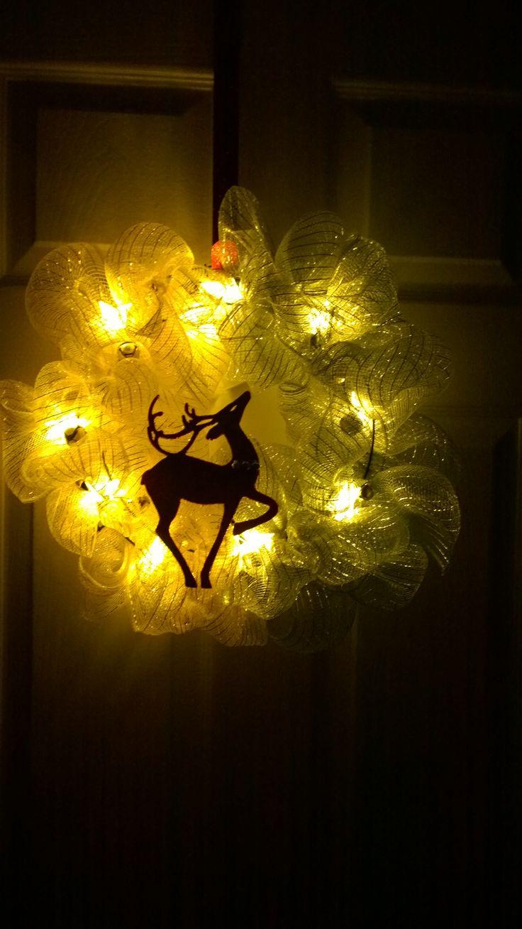 Corona navidad  con luces led