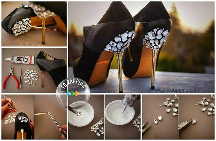 Cómo decorar zapatos de tacón. Si tienes unos zapatos que ya no te los pones y quieres darle un aire nuevo, te vamos a enseñar una decoración para darle un