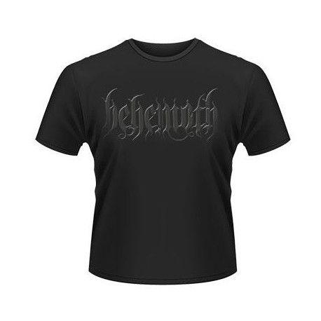 Tricou Behemoth: Logo (Black on Black)