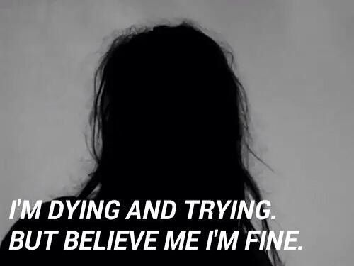 """...But I'm lying, I'm so very far from fine..."" -Fall Away 