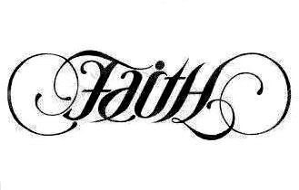 faith / hope ambigram