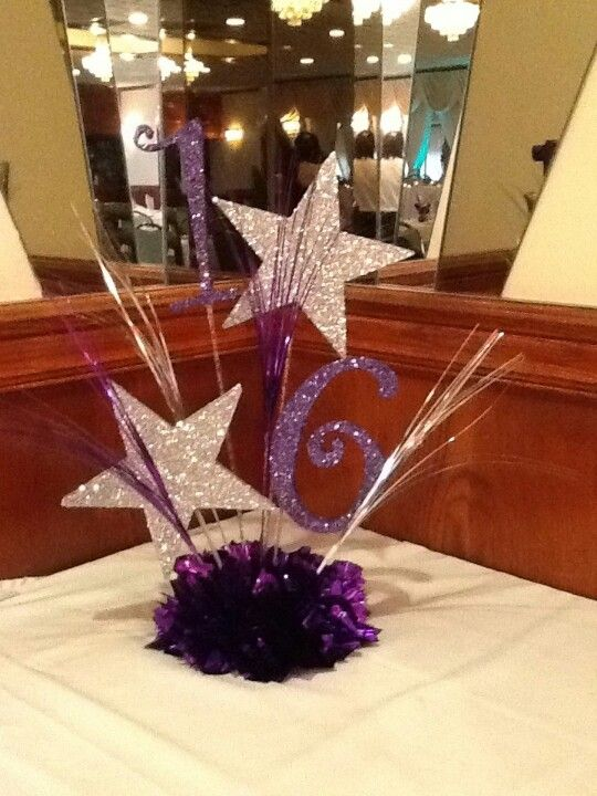 Star centerpiece, simple and more elegant. but use without table numbers