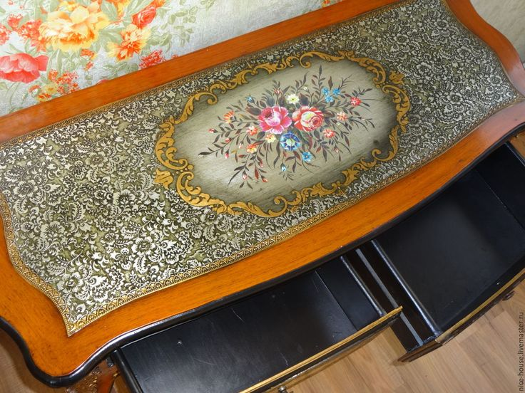 Купить консольный столик - коричневый, барокко, ретро стиль, старинный стиль, золочение, роспись, лепнина