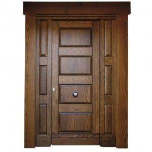 puerta de entrada clsica de madera iroko