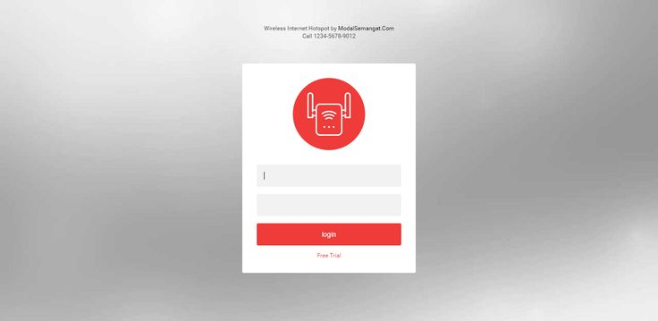 FLAT LOGIN PAGE  Download Gratis Template Login Page Hotspot MikroTik, Responsive (Desktop, Mobile, Tablet).