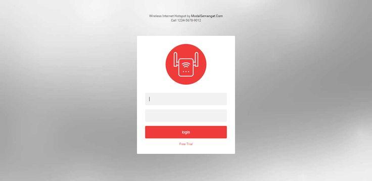FLAT LOGIN PAGE  Download Gratis Template Login Page Hotspot MikroTik, Responsive (Desktop, Mobile, Tablet).
