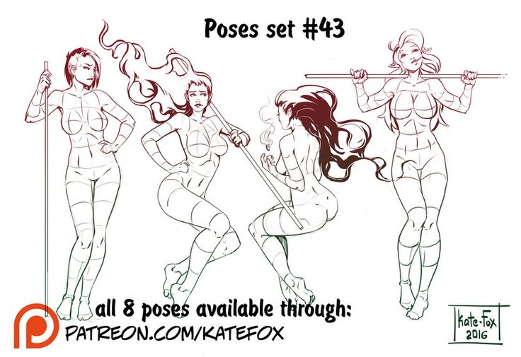 Pose study 98 by Kate-FoX on DeviantArt