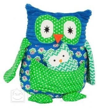 Lily & George Large Owl - Papa (Blue)