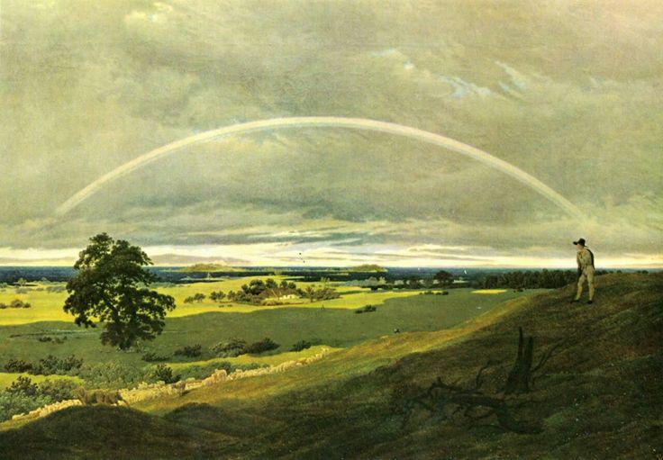 Landscape with rainbow  -  Caspar David Friedrich 1810  German 1774-1840  Oil on canvas 59 x 84.5 cm