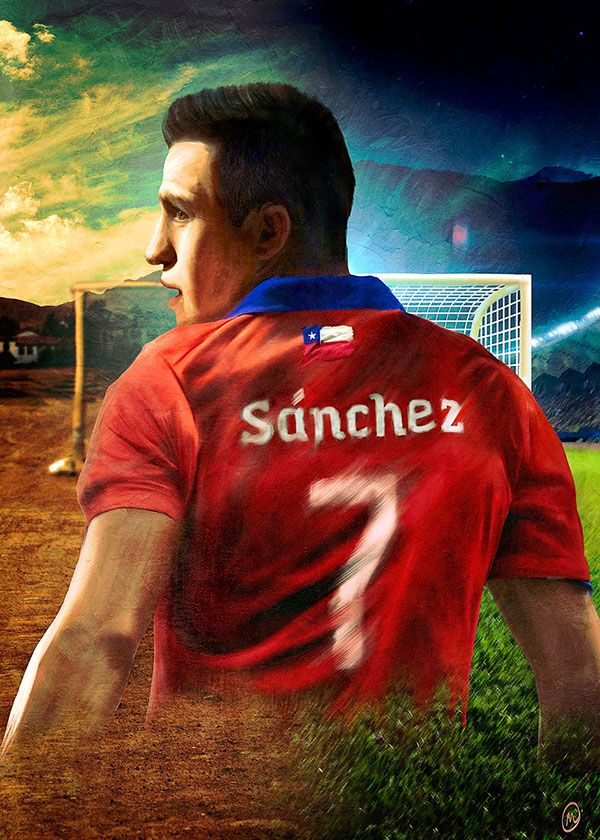 Ases de América: Alexis Sánchez on Behance