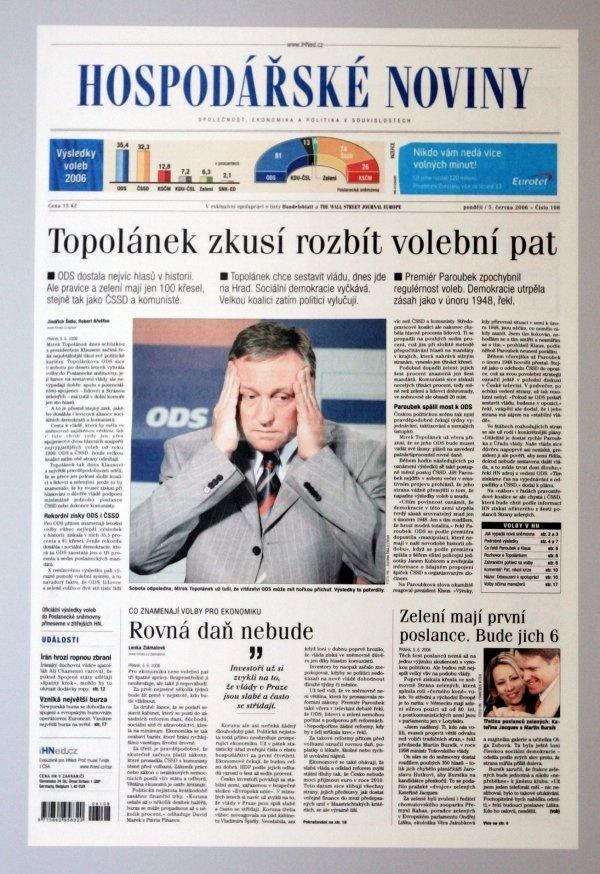 3.6.2006 - Volby končí patem
