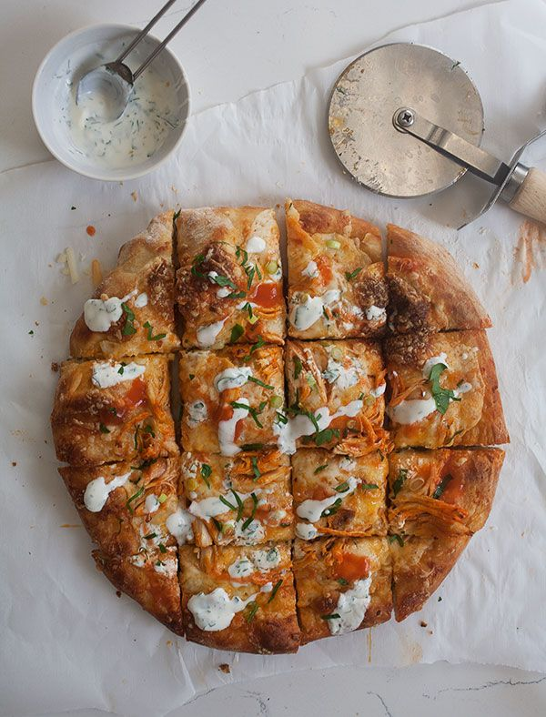 Buffalo Chicken Pizza | www.acozykitchen.com