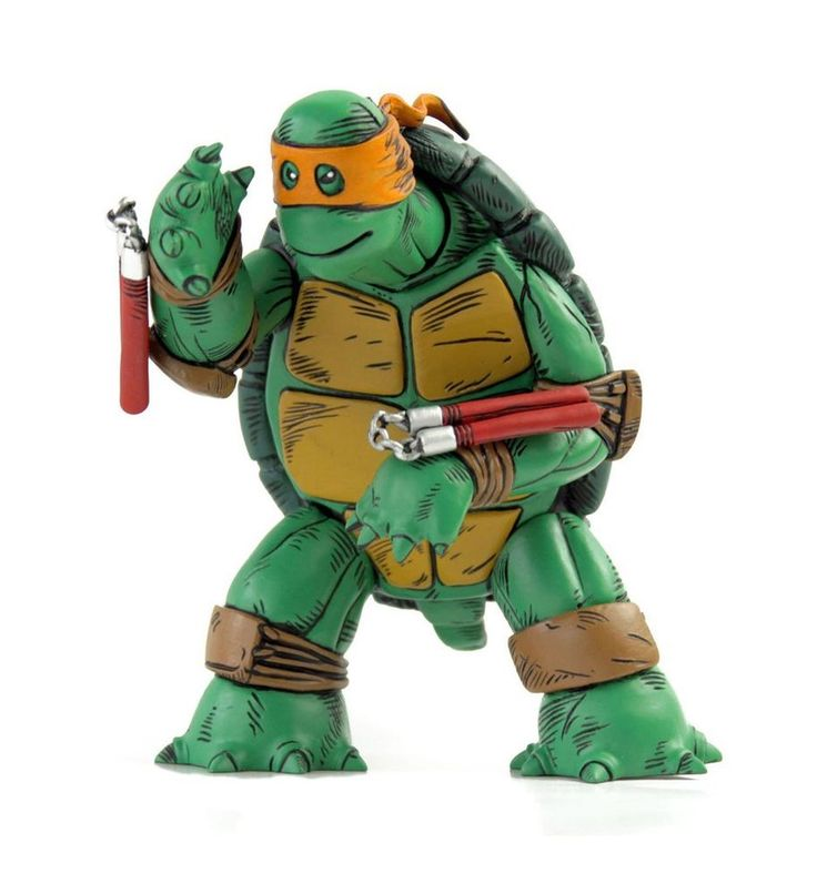 Teenage Mutant Ninja Turtles Figure - Mondo The First Turtle, Deluxe Orange Rare #MONDO